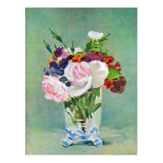 Still Life with Flowers by Edouard Manet Postcard