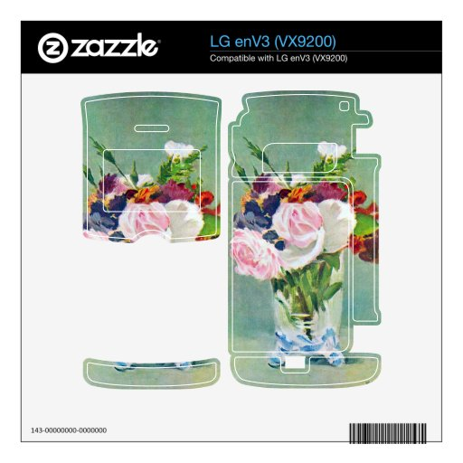 Still Life with Flowers by Edouard Manet Decals For The LG enV3