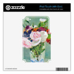 Still Life with Flowers by Edouard Manet iPod Touch 4G Decal