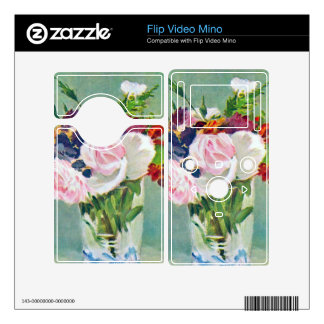 Still Life with Flowers by Edouard Manet Skin For Flip Video Mino