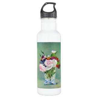 Still Life with Flowers by Edouard Manet Water Bottle