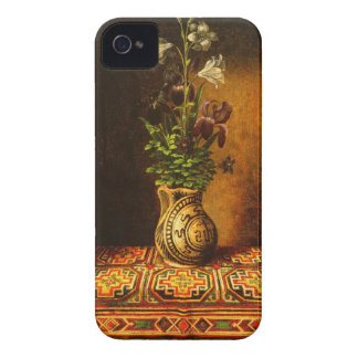 Still life with Flowers by Hans Memling iPhone 4 Covers