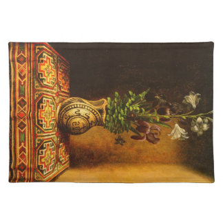 Still life with Flowers by Hans Memling Placemats