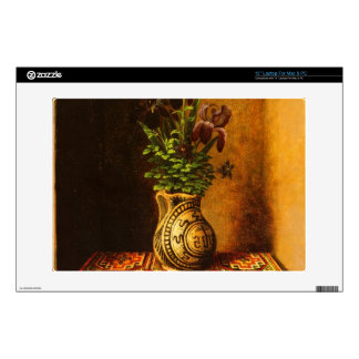 Still life with Flowers by Hans Memling Decals For Laptops