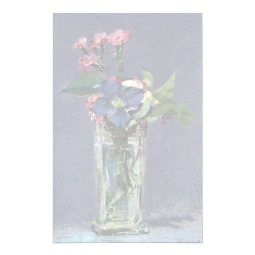 Still Life With Flowers By Manet Edouard Stationery