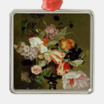 Still life with flowers christmas tree ornament