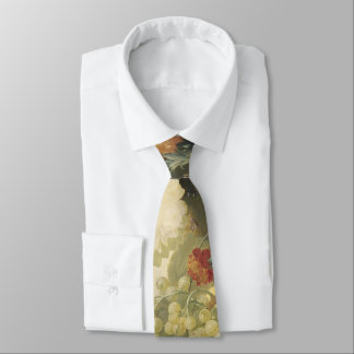 Still Life with Flowers, Fruit and Birds Tie