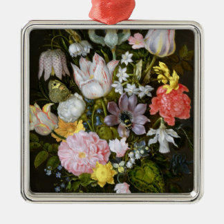 Still Life with Flowers Metal Ornament