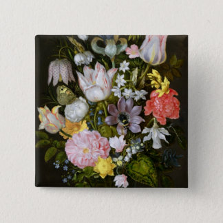 Still Life with Flowers Pinback Button