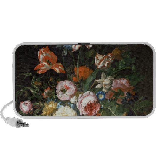 Still life with flowers portable speaker