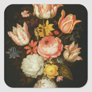 Still Life with Flowers Square Sticker
