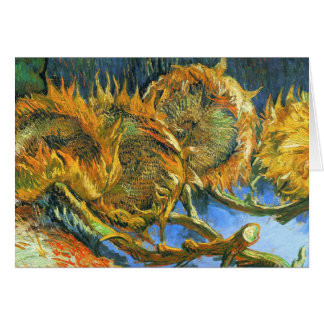 Still LIfe with Four Sunflowers Card