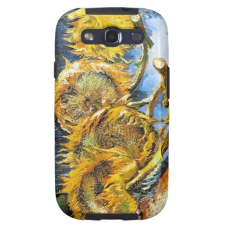Still Life with Four Sunflowers Van Gogh Vincent Galaxy S3 Covers
