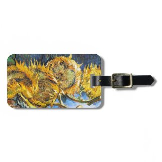 Still Life with Four Sunflowers Van Gogh Vincent Tag For Bags