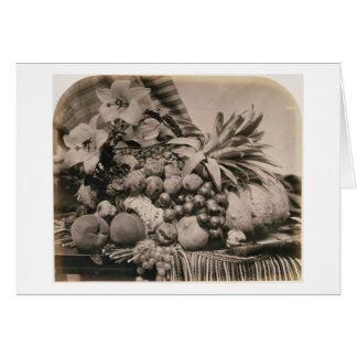 Still Life with Fruit, 1860 (sepia photo) Card