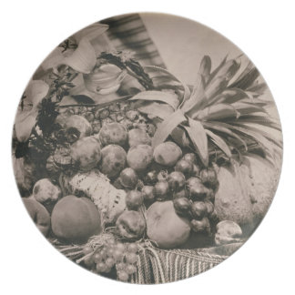 Still Life with Fruit, 1860 (sepia photo) Dinner Plates