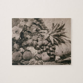 Still Life with Fruit, 1860 (sepia photo) Puzzle