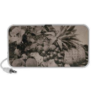 Still Life with Fruit, 1860 (sepia photo) Mini Speaker