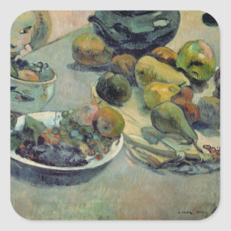 Still Life with Fruit, 1888 Square Sticker