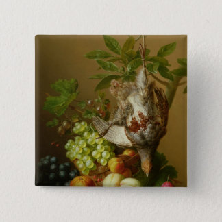 Still Life with Fruit and a Dead Partridge Button