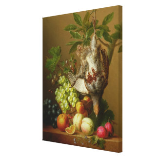 Still Life with Fruit and a Dead Partridge Canvas Print