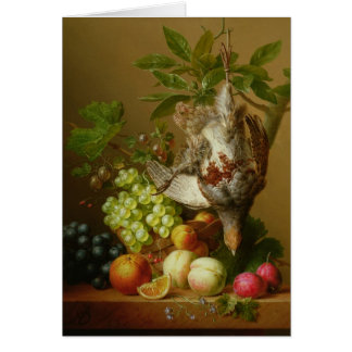 Still Life with Fruit and a Dead Partridge Card