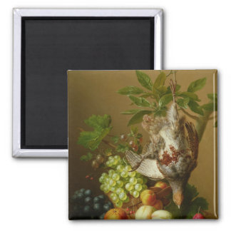Still Life with Fruit and a Dead Partridge Magnet