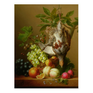 Still Life with Fruit and a Dead Partridge Postcard