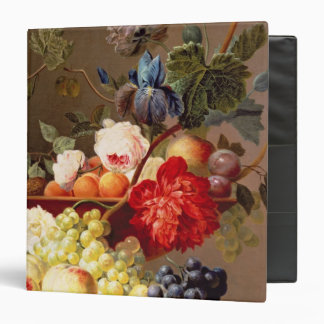 Still life with fruit and flowers 3 ring binder