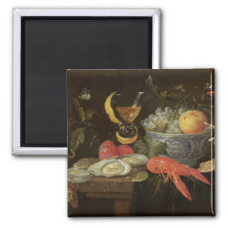 Still Life with Fruit and Shell Fish, 1653 (oil on 2 Inch Square Magnet