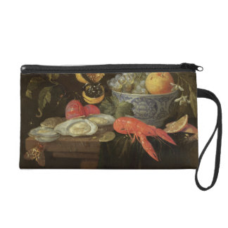 Still Life with Fruit and Shell Fish, 1653 (oil on Wristlet Purse