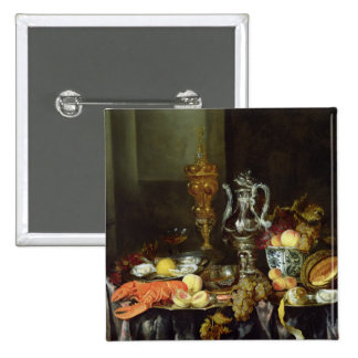 Still Life with Fruit and Shellfish Pinback Button