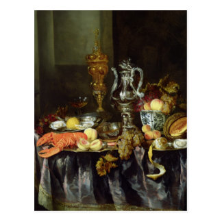 Still Life with Fruit and Shellfish Postcard