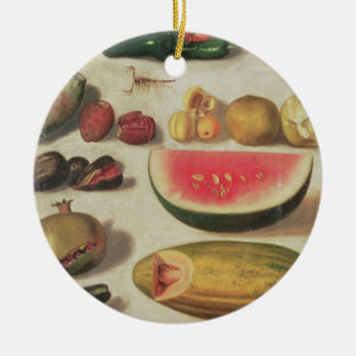 Still Life with Fruit and Toad Ceramic Ornament