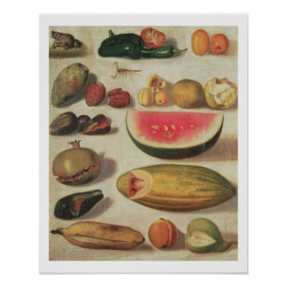 Still Life with Fruit and Toad Posters