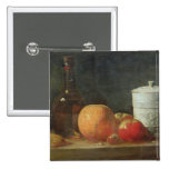 Still Life with Fruit and Wine Bottle Pinback Button
