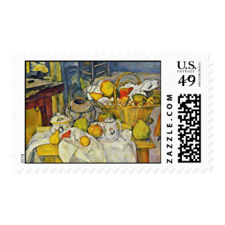 Still Life With Fruit Basket By Paul Cézanne Postage Stamps