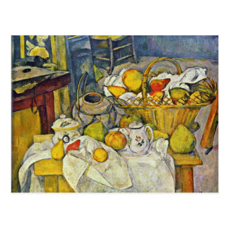 Still Life With Fruit Basket By Paul Cézanne Postcard