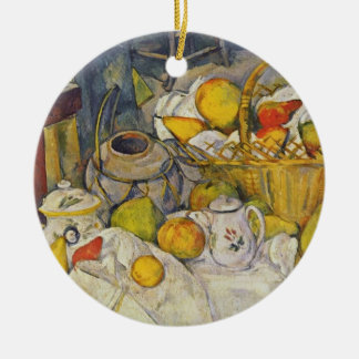 Still Life with Fruit Basket Christmas Ornaments