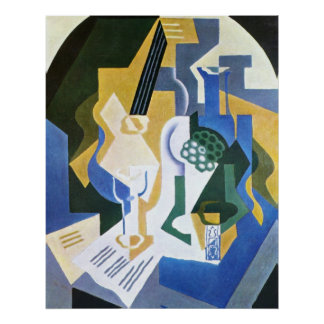 Still Life with Fruit bowl and mandolin -Juan Gris Poster