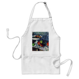 Still Life With Fruit Bowl By Paul Cézanne Adult Apron