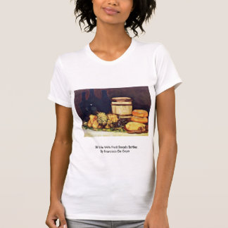 Still Life With Fruit Breads Bottles Tees