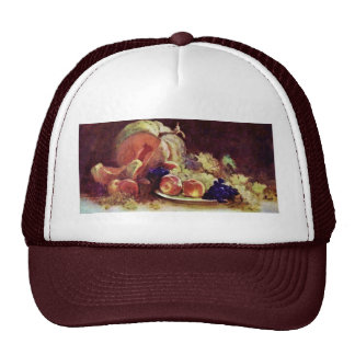 Still Life With Fruit By Grigorescu Nicolae Trucker Hats