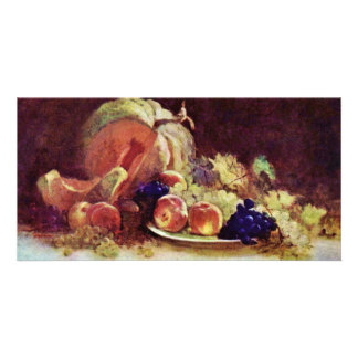 Still Life With Fruit By Grigorescu Nicolae Personalized Photo Card