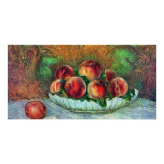 Still Life With Fruit By Pierre-Auguste Renoir Photo Card Template