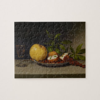 Still Life with Fruit, Cakes and Wine, 1821 Jigsaw Puzzle