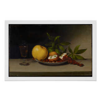 Still Life with Fruit, Cakes and Wine, 1821 Poster