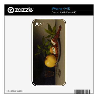 Still Life with Fruit, Cakes and Wine, 1821 Skin For iPhone 4