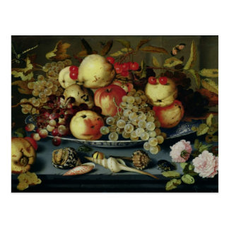 Still Life with Fruit, Flowers and Seafood Post Card