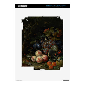 Still Life with Fruit, Foliage and Insects, c.1669 iPad 3 Decal